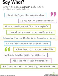 1000+ ideas about Quotation Marks on Pinterest | Punctuation ...