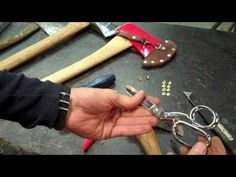 How To Make A Leather Axe Sheath - YouTube