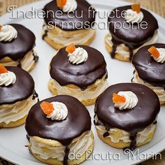 Din bucătăria mea: Indiene cu fructe si mascarpone Sweets Recipes, Cookie Recipes, Romanian Food, Pie Dessert, Food To Make, Bakery, Deserts, Food And Drink, Yummy Food