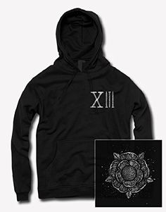 Sworn In Flower Black Pullover Hooded Sweatshirt - http://bandshirts.org/product/sworn-in-flower-black-pullover-hooded-sweatshirt/