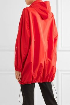 Balenciaga - Hooded Shell Windbreaker Jacket - Red - FR40