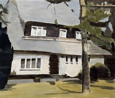 "Luc Tuymans ~ ""Villa"" (1992) Oil on canvas @ Galerie Isabella Czarnowska"