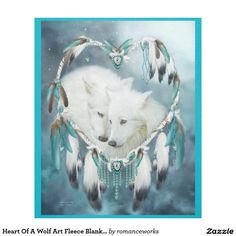 Heart Of A Wolf Art Fleece Blanket featuring the rt of Carol Cavalaris.