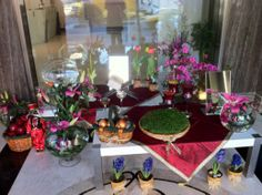 one of the countless storefront displays of haft seen for Norooz (March 2014) | pix & story: www.figandquince.com/2014/03/19/hugs-kisses-and-greetings-from-tehran/#comment-15816  Greetings from Tehran, Iran!