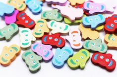 Elephant Wooden Bead Animal-shaped Wood by boysenberryaccessory Diy Crafts Materials, Beaded Animals, Baby Accessories, Wooden Beads, Little Things, Color Mixing, Baby Kids, Elephant, Shapes