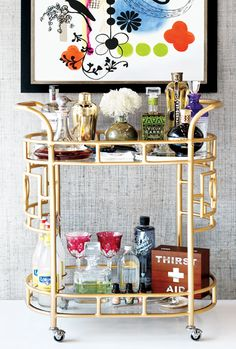 deco inspired gold bar - what could be more luxe...