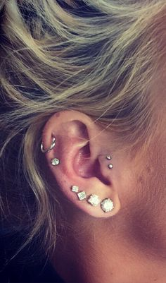 Check out our wide selection of ear piercing jewelry ideas for Tragus Piercing, Cartilage Earring, Forward Helix Jewelry, Rook Hoops, Daith Rings and much more ! Tragus Piercings, Piercing Tattoo, Ear Peircings, Body Piercings, Cartilage Earrings, Hoop Earrings, Middle Cartilage Piercing, Ear Piercings, Tragus