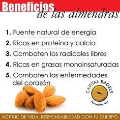 Conoce los beneficios de las almendras. #Almond #BeHealthy #HealthFood