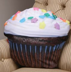 Cupcake Pillow.  Best part it's non fattening and won't leave crumbs.
