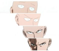 The stages of Saitama- this is how I judge how serious a fight is gonna be when…