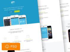 Hype Landing page free PSD by Mat Przegietka