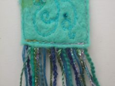 handmade felt embroidered bookmarks - Google Search