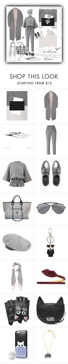 """""""Monochrome"""" by valentina-jerkovic ❤ liked on Polyvore featuring Mother of Pearl, Isabel Marant, STELLA McCARTNEY, Max&Co., Chanel, Alexander McQueen, MANGO, Karl Lagerfeld, Witchery and Delfina Delettrez"""