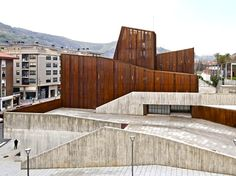 Corten Steel-Clad OKE Cultural House Evokes the Former Mining Identity of Ortuella OKE by aq4 arquitectura – Inhabitat - Sustainable Design Innovation, Eco Architecture, Green Building