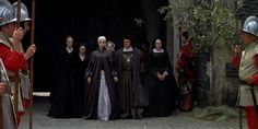 Anne of the Thousand Days (1969)  Anne Boleyn  - approaching the scaffold with Master Kingston and her ladies.