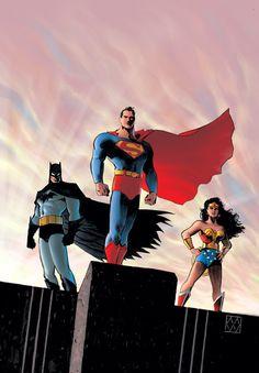 #Trinity #Fan #Art. (BATMAN/SUPERMAN/WONDER WOMAN: TRINITY #1) By: Matt Wagner. (THE * 5 * STÅR * ÅWARD * OF: * AW YEAH, IT'S MAJOR ÅWESOMENESS!!!™) ÅÅÅ+