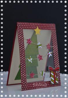 Fun Christmas Tree card with Window Sheets.