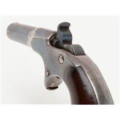 "Remington-Elliott single shot derringer nicknamed ""Mississippi"", .41 cal., 2-1/2"" barrel, silver f"