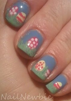Nail Newbie's Easter Egg Hunt Nail  Design
