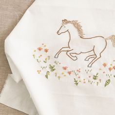 Wild Horse Embroidery Pattern PDF by Sarah Jane