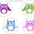 Owl labels that are perfect for book baskets, supplies, student helpers, etc.  I have used these all over my first grade classroom!  They come in a...