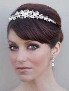 Rhinestone Bridal Headband Tiara-AVA173