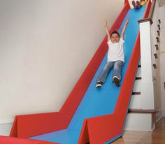 Every house with kids needs a slide for the stairs