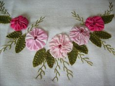 Pano de Prato (Flor Fuxico)