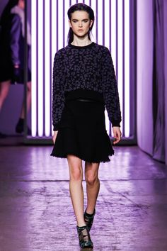 Rebecca Taylor | skirt shape. print jumper