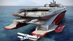 'Project L3', the latest semi-SWATH catamaran innovative concept yacht design from superyacht naval archtirect BMT Nigel Gee and styled by Rob McPherson, will be introduced at the 2014 Monaco Yacht Show