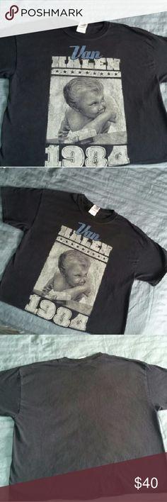 Vintage 80s band t shirt Vintage, 1980s, Van Halen album cover, rock T-shirt. Vintage Tops Tees - Short Sleeve