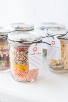These homemade canning jar soup mixes are the perfect frugal holiday gift! Learn how to make six different flavors.