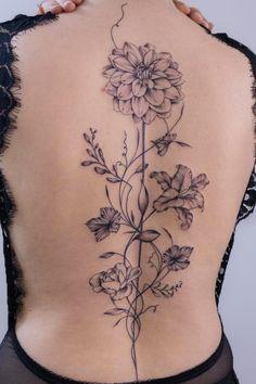 Beautiful floral back tattoo by Tizia Tal. Book with them on the Tattoodo App or find an artist in your area!.......#floraltattoo #flowertattoo #backtattoo #backpiece #tattooinspo #tattooart #tattoo #tattooinspiration #uniquetattoo #besttattoo #tattoostyle #tatuajes #tattooideasfemale #femaletattooideas