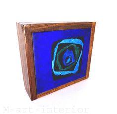 Holz Dose Bunge Schibensky Ruckenbrod Maria Likarz ? enamel wood box mid century