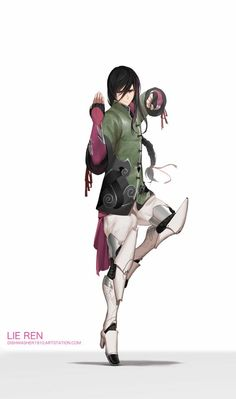 """""""Lie Ren HD images are available on my Patreon"""" Fantasy Character Design, Character Design Inspiration, Character Concept, Character Art, Rwby Anime, Rwby Fanart, Rwby Characters, Fantasy Characters, Team Rwby"""