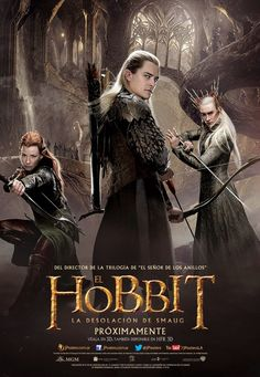 """[ad The second in a trilogy of films adapting the enduringly popular masterpiece The Hobbit, by J. Tolkien, """"The Hobbit: The Desolation of Smaug"""" continues the adv… Tauriel, Legolas And Thranduil, Hobbit 2, The Hobbit Movies, Jackson, Hobbit Desolation Of Smaug, Tolkien Books, Elfa, Kino Film"""