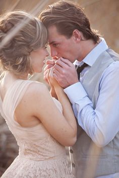 romantic and sweet engagement photography pose