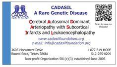 CADASIL A Genetic Disease Awareness Cards