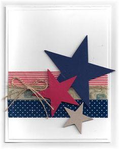 Scrappin 'e Stampin' em GJ Handmade Birthday Cards, Greeting Cards Handmade, Cute Cards, Diy Cards, Holiday Cards, Christmas Cards, Military Cards, Star Cards, Theme Color