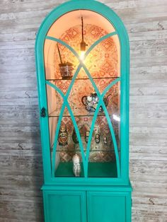 It's amazing what you could do with a little creativity and a piece of old furniture. Upscale Furniture, Old Furniture, Furniture Makeover, Vintage Hutch, Antique Hutch, Raw Color, Color Pop, Chicken Wire Cabinets