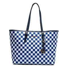 b71f5f5a6945 Michael Kors Cheap Jet Set Checkerboard Saffiano Travel Large Blue Totes  Nordstrom I think i need this