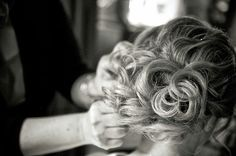 Beauty By Nicole : Great pictures from my past bride Jen.  Low, textured, curly bun up-do.