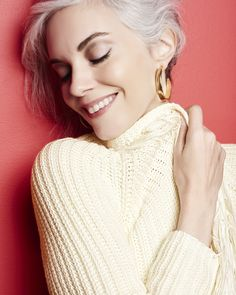 Get cozy in our Corinne Cowl Neck Sweater