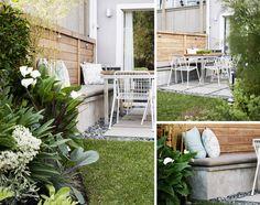 ideas small garden seating ideas patio for 2019 Small Space Gardening, Small Garden Design, Small Gardens, Outdoor Gardens, Outdoor Living Rooms, Interior Garden, Garden Seating, Edible Garden, Deco