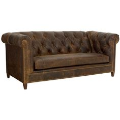 Topeka Leather Sofa ($5,601) ❤ liked on Polyvore featuring home, furniture, sofas, sofa, chair, couch, nailhead sofa, nailhead couch, nail head sofa and leather nailhead sofa