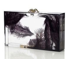 Charlotte Olympia Pandora Feather Clutch