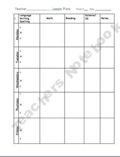 Teacher Keys Effectiveness System Tkes Editable Lesson Plan