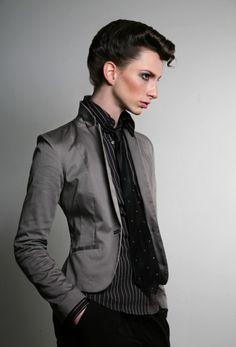 Men in Lingerie, Women in Suits. Beautiful #androgyny #asexy #agendered style