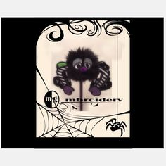 Halloween Pencil topper  spider Digital Download   8x11 by OmgMbroidery on Etsy