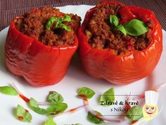 Zapékané papriky s bulgurem/rýží ~ Zdravě a hravě s Nikou